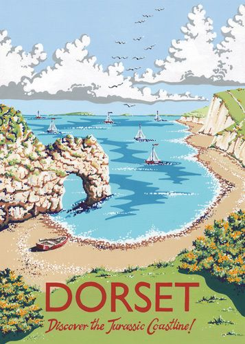 Dorset by Kelly Hall - art print from King & McGaw