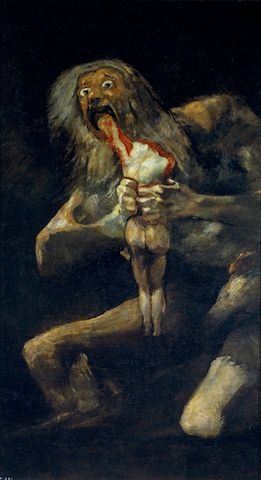 A Brief Survey of Art History's Most Macabre Paintings  Francisco Goya, Saturn Devouring His Son