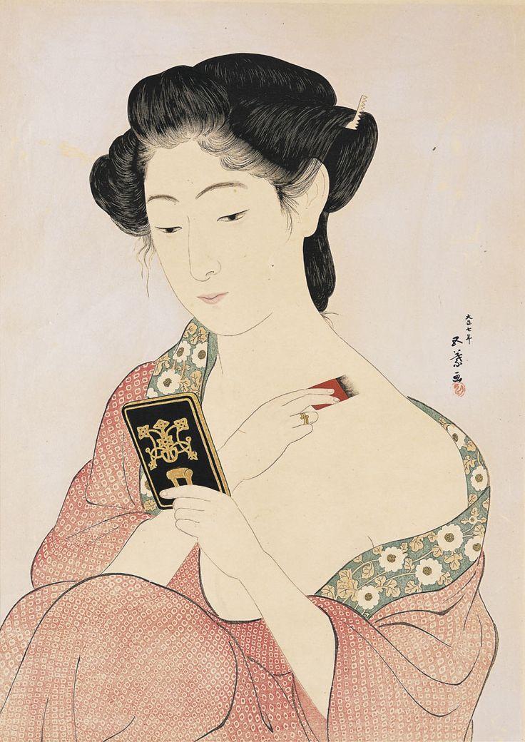 'Minatoya Print Shop' (1914) by Yumeji Takehisa
