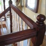 Painted railing or spindles..