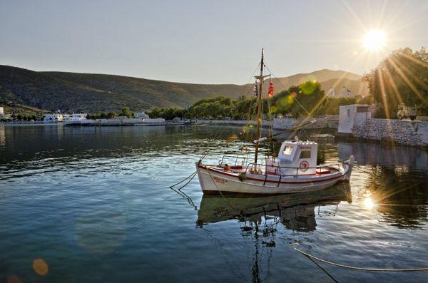 Morning glow at Katapola port