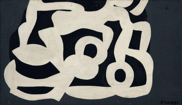 Carla Accardi - Untitled - Casein on canvas - cm.  24x41