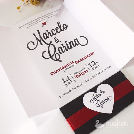 Moderno Amor - Meiker - Convites de casamento criativos