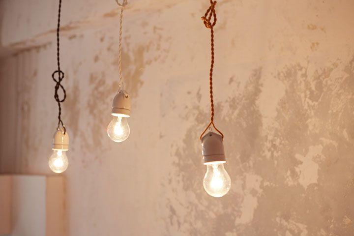 陶器の裸電球ペンダントランプ/ゴールド | 照明・ランプ | ペンダントランプ | Orne de Feuilles