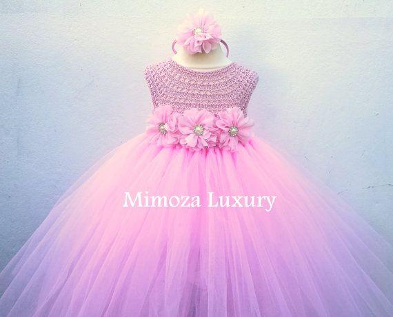 Baby Pink Flower girl dress blush pink tutu dress princess