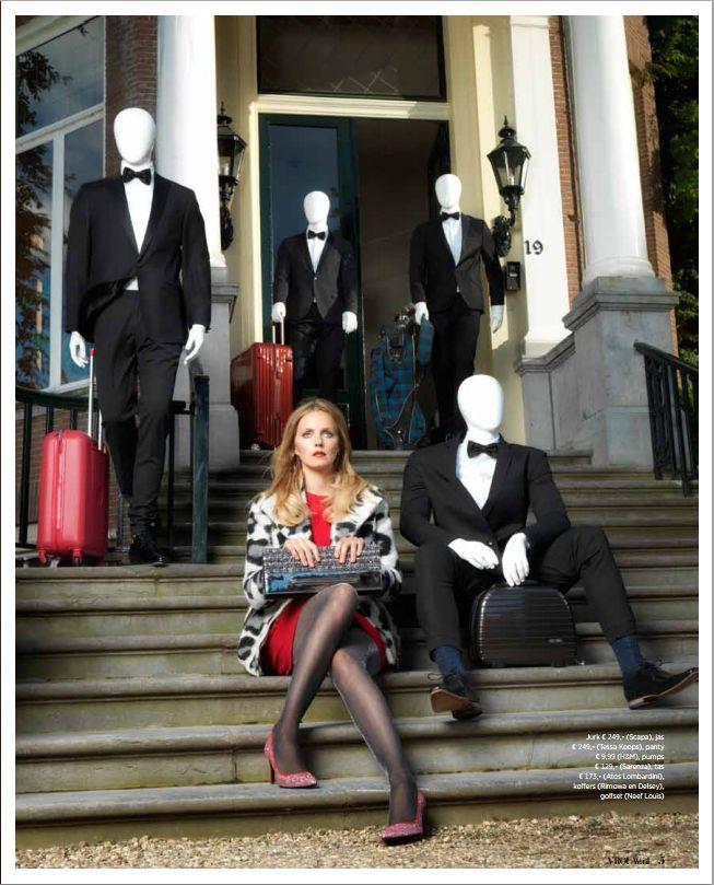 Proudly Presents Leonie ter Braak nu in de nieuwe VROUW Glossy. Wearing BELLA GREY LEOPARD