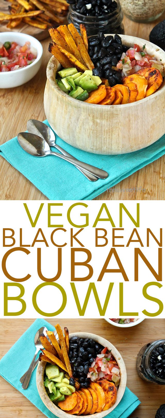Black beans, sweet potatoes, and plantain fries, this vegan Cuban bowl has it all. Click the photo for the full recipe.