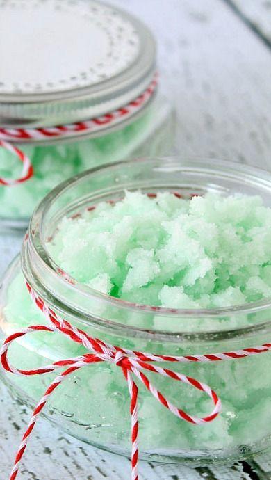 DIY Mint Sugar Scrub