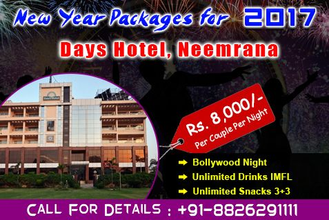 Days Hotel new year packages 2017 near Delhi Ncr Hurry up book now Call-08130781111