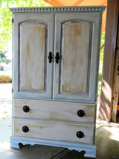 Painting Old Cabinets Before And After