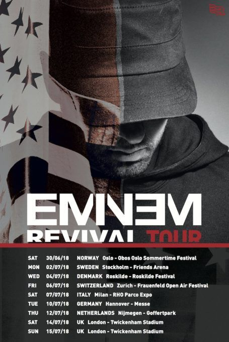 Eminem hinted in various interviews that he will be going on a tour in support of his latest album Revival. Today, the rap superstar has announced the first batch of dates for Europe, where...