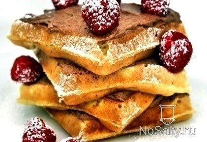Csokikrémes goffri málnával  http://www.nosalty.hu/recept/csokikremes-goffri-malnaval