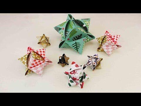 DIY Würfelsterne basteln | Tolle Sterne aus Fröbelstern-Papier | Origami Weihnachtsdekoration - YouTube