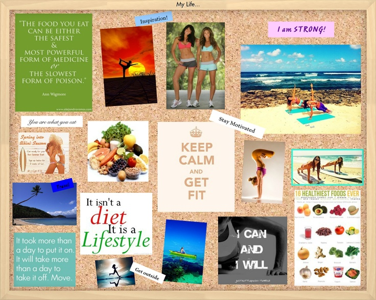 My tone it up vision board made on oprahs dream board