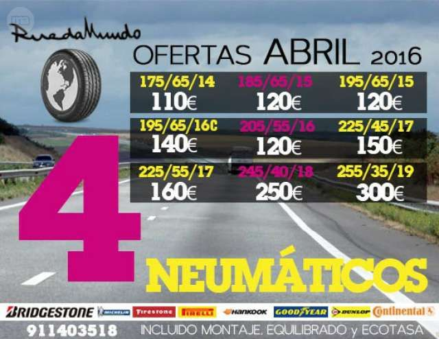 MIL ANUNCIOS.COM - Neumaticos km0 seminuevos!627 00 43 88