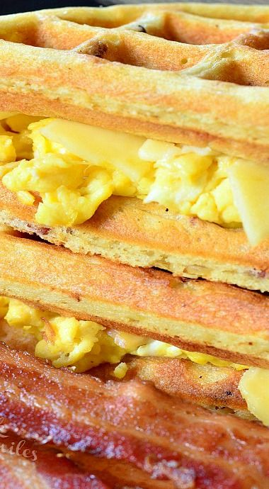 Savory Bacon Waffles