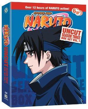 Naruto DVD Season 3 Box Set 1 (Hyb) Uncut #RightStuf2013