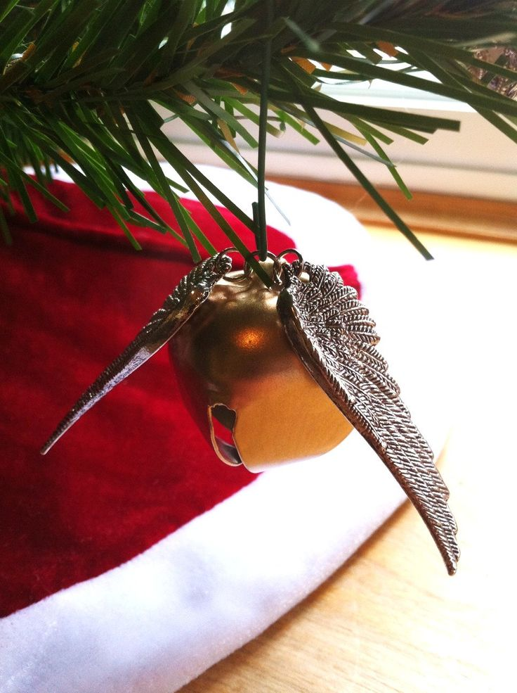 Golden Snitch Bell Ornament - Geekery - Holidays - Harry Potter - Christmas - Its a Wonderful Life - Bell Rings - Angel. $15.00, via Etsy.
