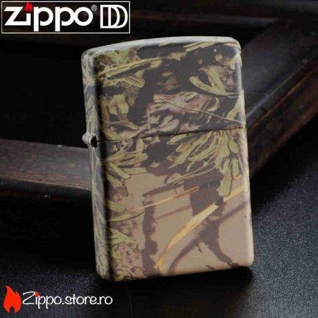 Zippo Realtree Max este o bricheta cu un finisaj de camuflaj, perfecta pentru drumetii, fiind usor de folosit in orice conditii meteo.