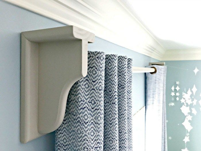 Diy Wooden Curtain Rod And Brackets Wooden Curtain Rods Wooden