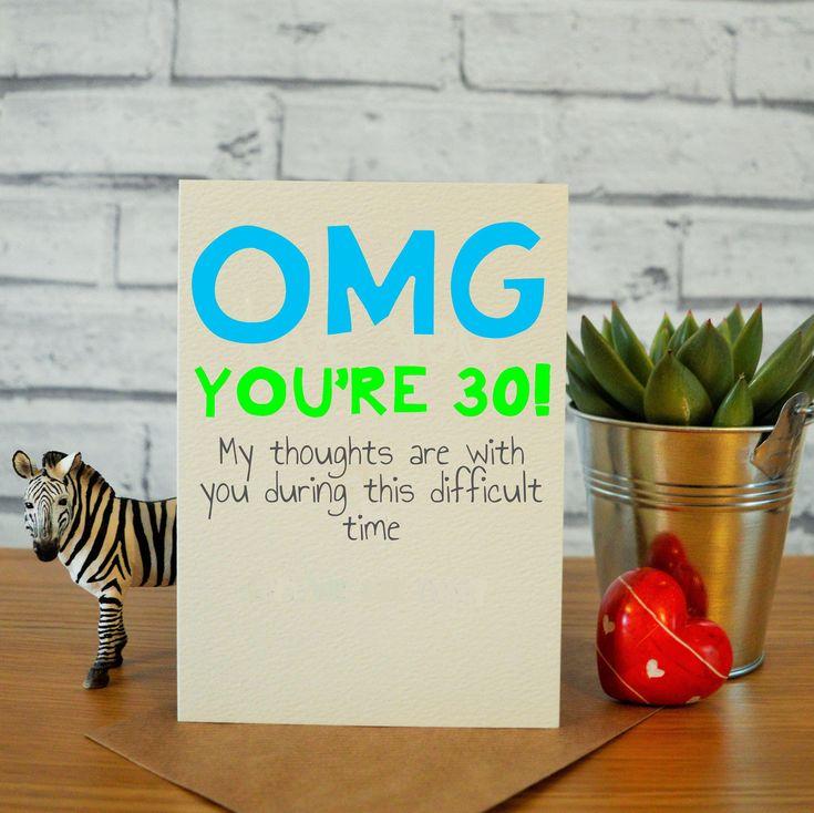 30th birthday card for him funny 30th birthday card 30th