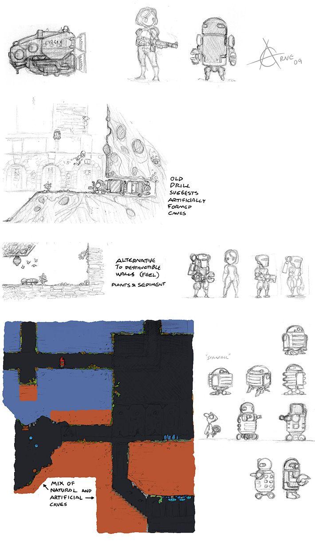 Exile pencil thumbnails.