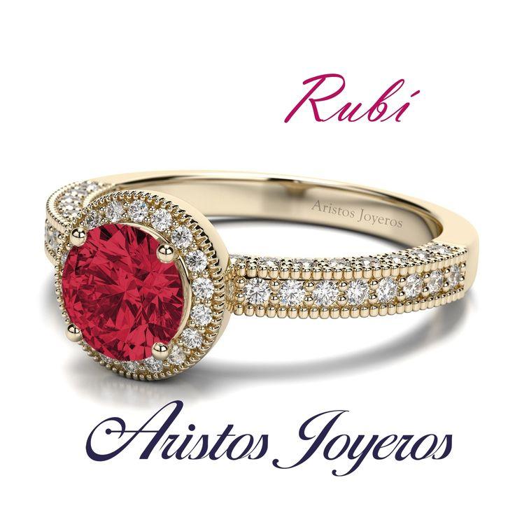 En el mes de Julio tenemos para ti los más hermosos rubiés para diseñar y fabricar tu anillo de compromiso!!