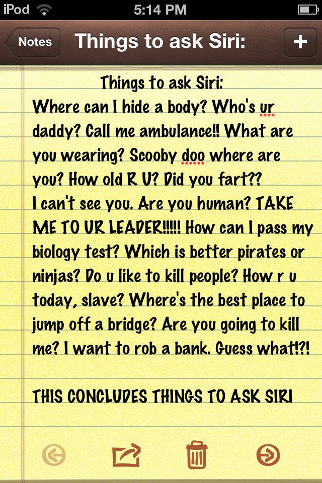 Things to ask Siri ...........