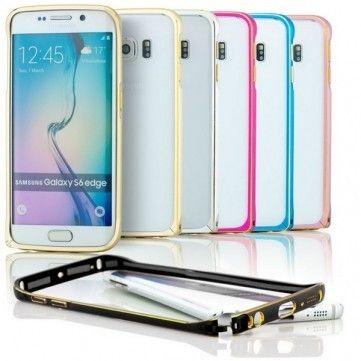 Protecție de înaltă calitate pentru telefonul tău Samsung Galaxy S6 Edge - husă bumper de metal la doar 35 lei!