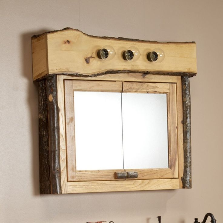 Best 25 rustic medicine cabinets ideas on pinterest wood medicine cabinets large medicine - Hickory medicine cabinet with mirror ...