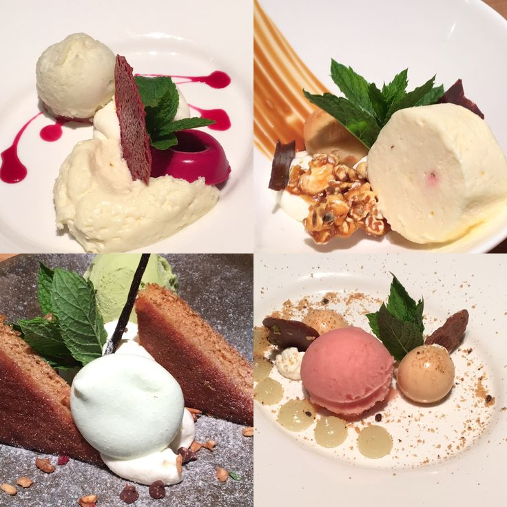 Desserts najaar 2016 appel & biet  • popcorn parfait • groene thee ijs & taart • citrus
