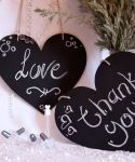 Heart shaped chalk board - Hand Crafted
