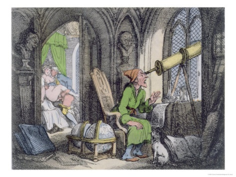 Astronomer Distracted, Thomas Rowlandson, 1808-17