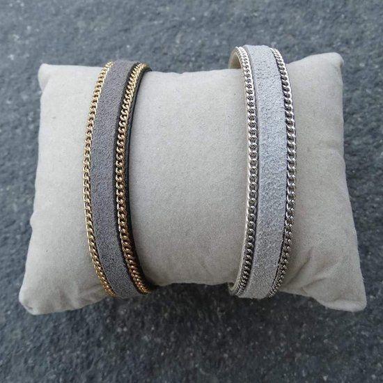 DIY Suède Armband met schakelketting - Busy Beads