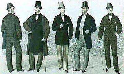 Google Image Result for http://1.bp.blogspot.com/_JzhQFW9uzN4/TUATa9mb6QI/AAAAAAAACiI/dfEkFpbMie4/s400/1877_fashion_men.jpg: Google Image, Style, Men S Fashion, Mens Fashion, Mens Clothing, Period Clothing, Men'S Fashion, Victorian Fashion, Victorian Era