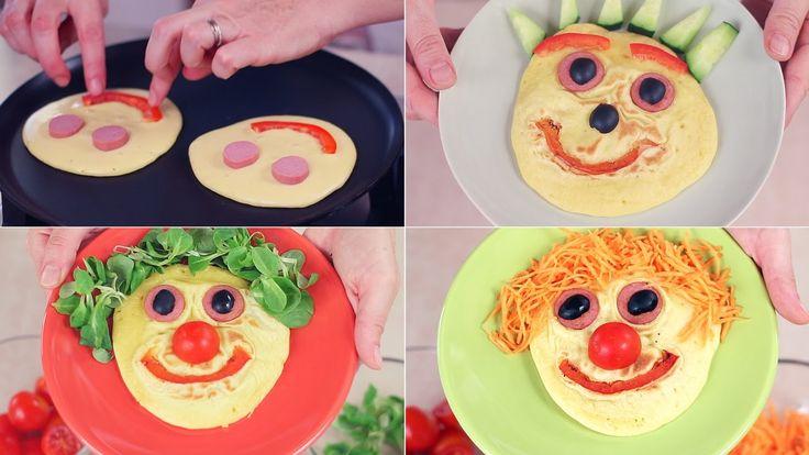 PANCAKES SALATI CON WÜRSTEL E VERDURE - Savory Pancakes with Sausage and...