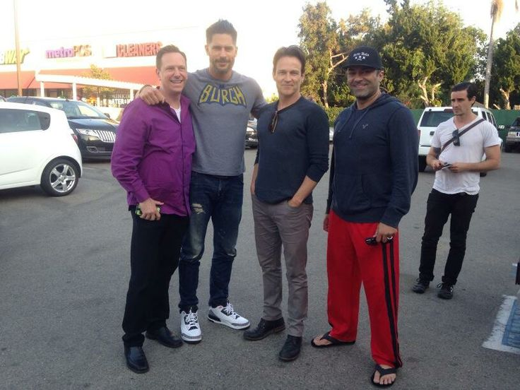 Stephen attended a wrestling match in Reseda with his True Blood buddies Joe Manganiello, Ryan Kwanten and Chris Bauer
