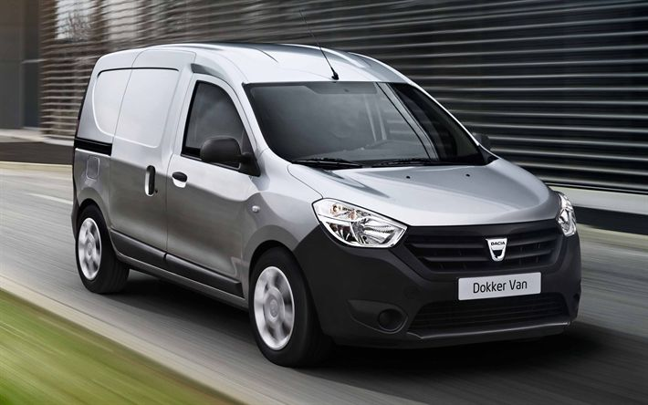 Download wallpapers Dacia Dokker, 2018, cargo van, 4k, cargo version, cargo transportation, new white Dokker, cargo delivery, Dacia