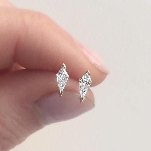 Vale Jewelry diamond kite stud earrings