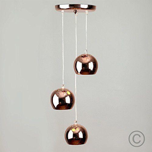 Contemporain Suspension Style 'Rétro'. 3 Globes Oculaires…