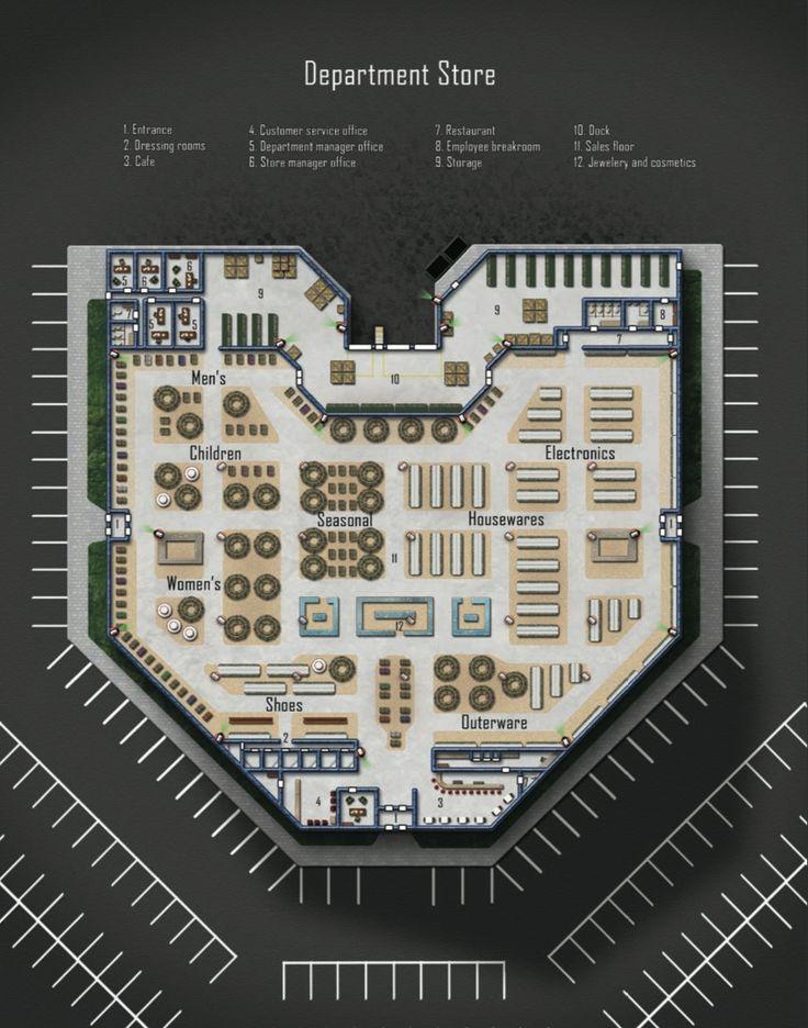 Department Store; shadowrun, floorplan