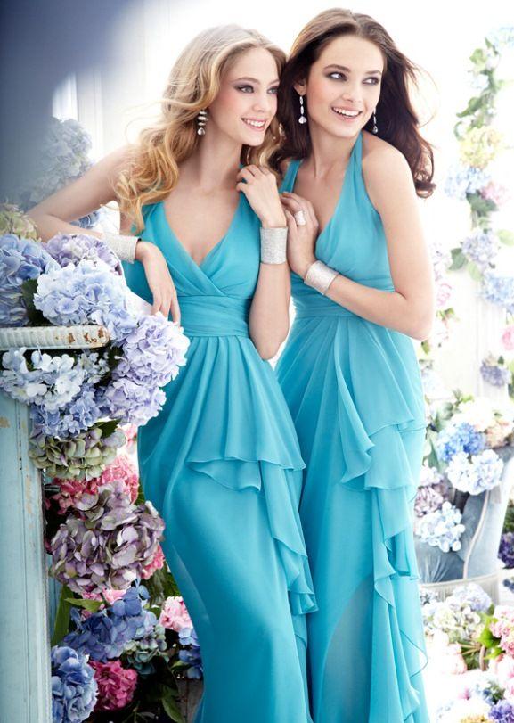 #Kazar tiffany Niebieski druhny sukienki przez jim-Hjelm-5274_zm