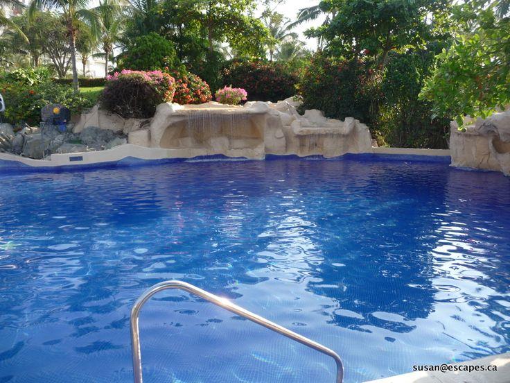 waterfalls in the pool