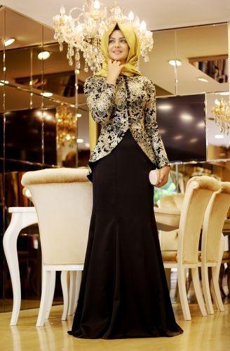 Pınar Şems - Siyah Peplum Takım