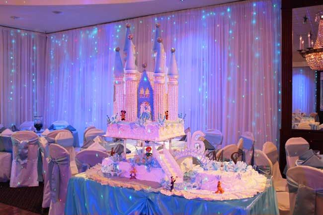 Sweet 16 paris decorations tables princess manor for Princess dekoration