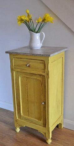 comment repeindre un meuble, choisir le jaune