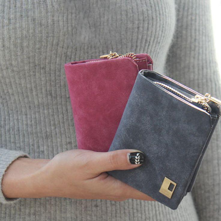 8,5*10,5*3 cm Frauen Kurze Brieftasche 2017 Mini Geldscheinklammer Geldbörse Multifuctional Kupplung Münze Tasche freies Verschiffen J445
