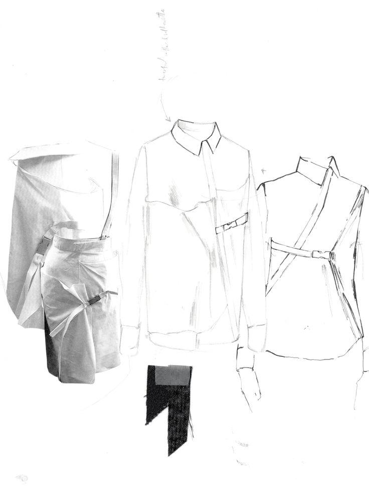 Fashion Sketchbook - fashion design research & shirt sketches; fashion portfolio // Alexandra Baldwin