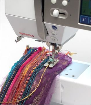 Stitches straps and layers by Maggie Gray. Using what you have to make cool fabrics: