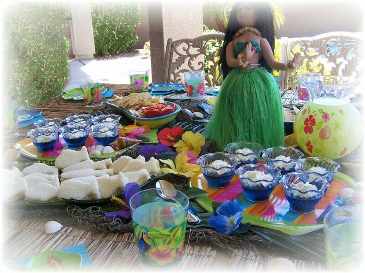 luau party food | Frills to Fairytales Tropical Luau Party